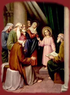 Niño Jesús en el templo